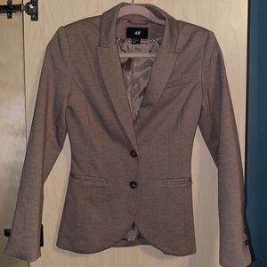 Fitted H&M light brown blazer